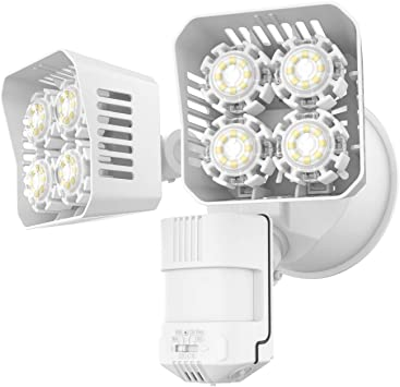 Amazon Com Sansi Led Security Motion Sensor Outdoor Lights 36w 250w Incandescent Equivalent 3600lm 5000k Daylight Dusk To Dawn Waterproof Flood Light Etl Listed White Home Improvement