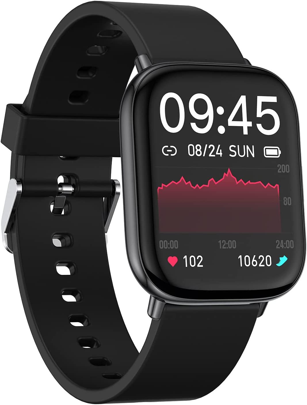 ELEXUS Smart Watch Fitness Tracker for Men Women,Heart Rate Activity Tracking Sport Smartwatches, Waterproof Pedometer Watches with Sleep Monitor Smartwatch Compatible iPhone and Android Phones