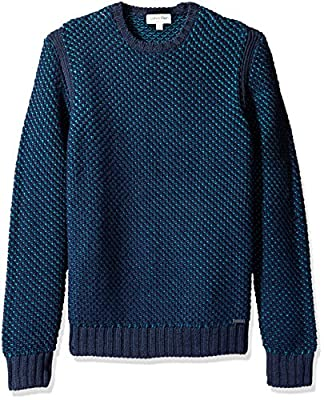Calvin Klein Men's Texture Rib Crew Neck Sweater