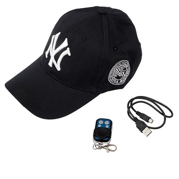 Cámara espía TenSky 8 GB, 1920 x 1080P HD en gorra de béisbol, para deportes de exterior, videocámara portátil de acción DV con grabación de audio y vídeo: ...