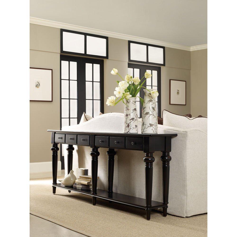 Amazon.com: Hooker Furniture 5121 85001 Six Drawer Thin Console, Black:  Kitchen U0026 Dining