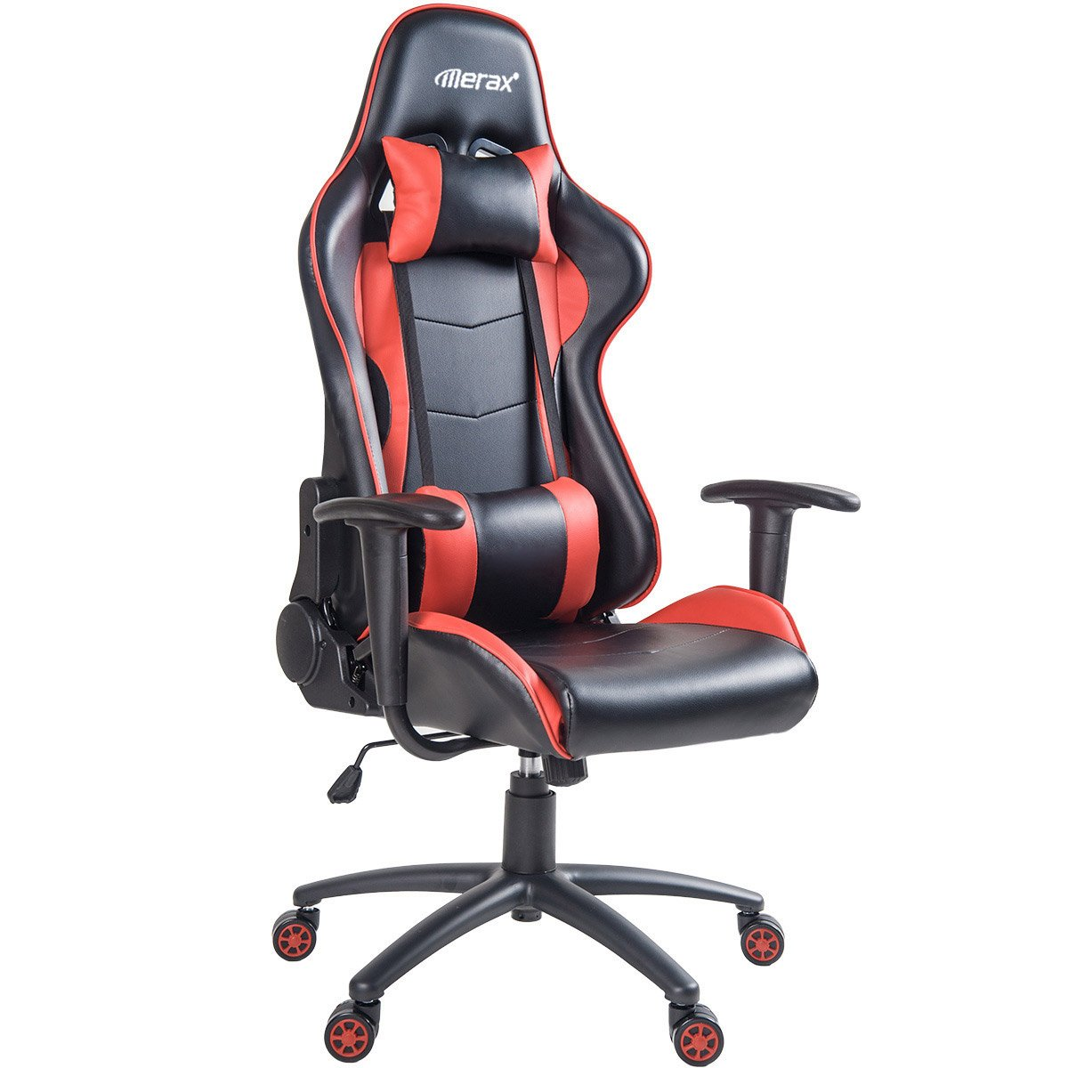Merax PP036128CAA Ergonomic High Back Gaming Chair with Lumbar Support and Headrest, Blue