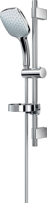 Ideal Standard B0014AA Idealrain Cube XL1 Asta Doccia 1 Funzione, Diametro 130 mm, Asta Murale da 600 mm, Flessibile da 1750 mm
