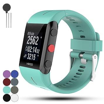 Für POLAR Trainingcomputer V800 GPS Sport Ersatz Uhrarmband Gurt - iFeeker Weich Silikon Metall Schließe Uhr Gürtelschnalle A