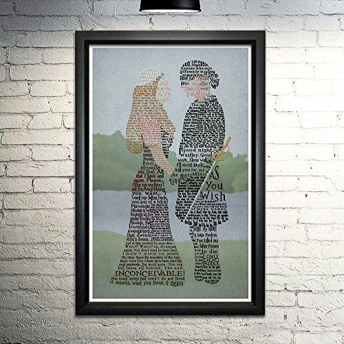11 Lithograph (Princess Bride word art print -11x17