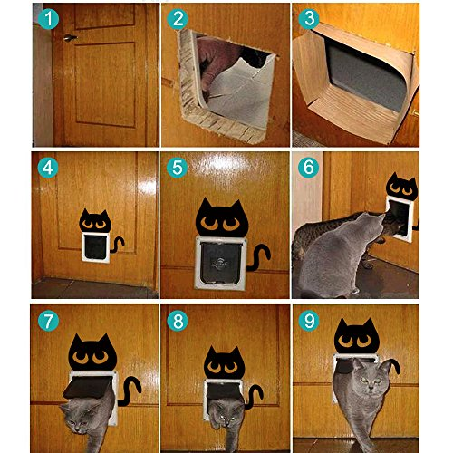 Moost Cat Door 4 Way Locking Pet Door For Interior