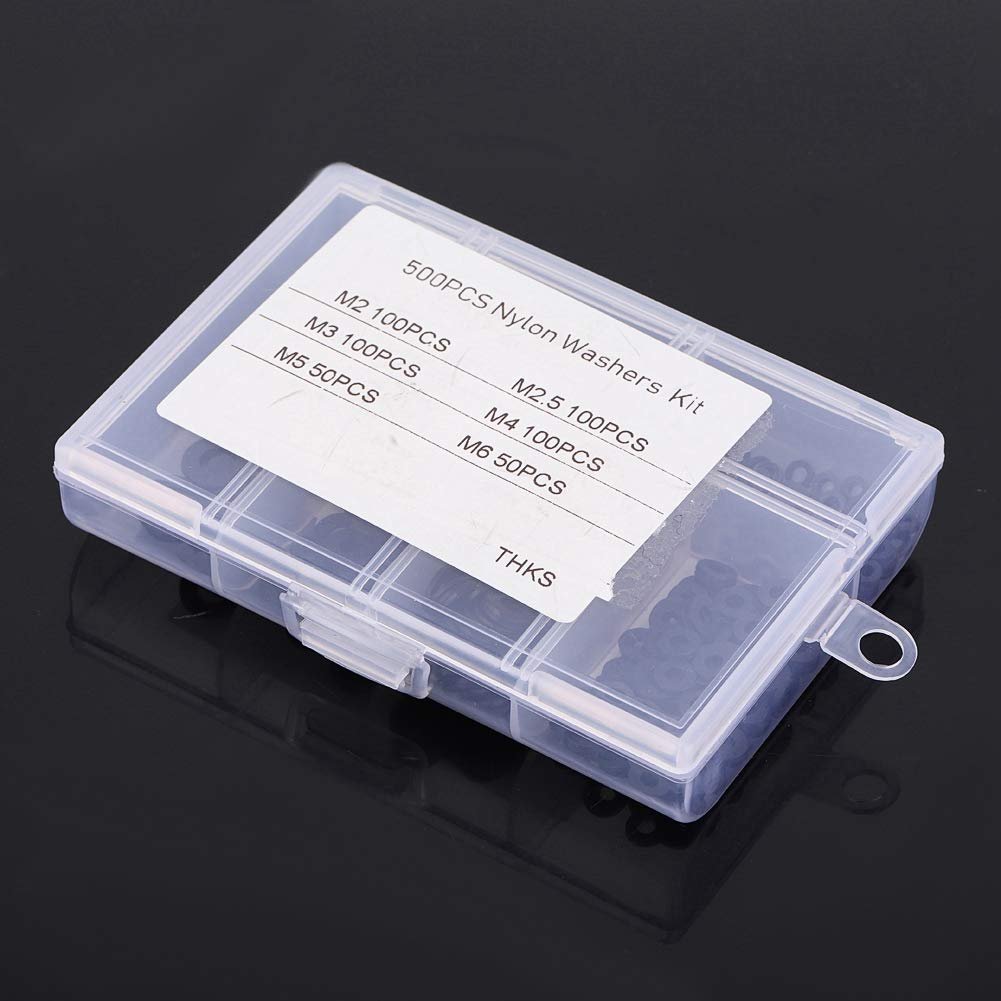 Black 500pcs Washer for Wear Pad for Spacer Can Spread a Load Durable Nylon Gasket