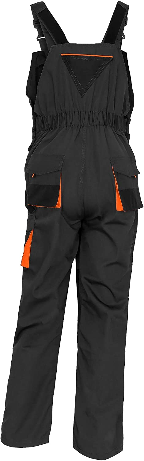 Knee Reinforcement with Pocket for Knee Pad Multipockets Durable Triple Stitched Seams ArtMas Work Bib and Brace Overalls