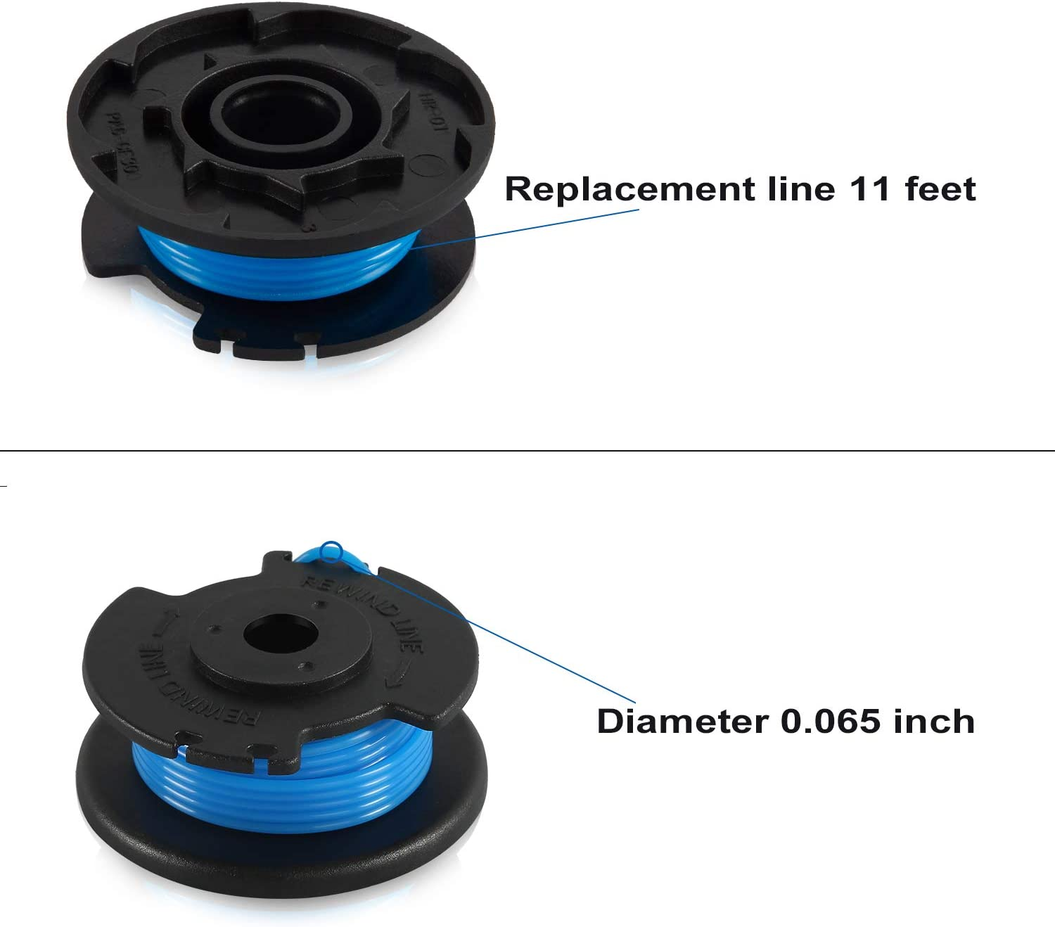 4 Spools + 2 Caps Amityke String Trimmer Replacement Spool Line ...