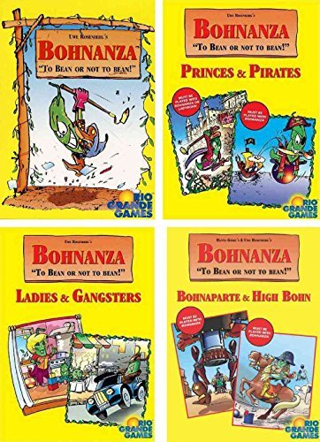Bohnanza Card Game Bundle of Base Game plus Three Expansions by Bohnanza Bohnanza Rio Grande Games