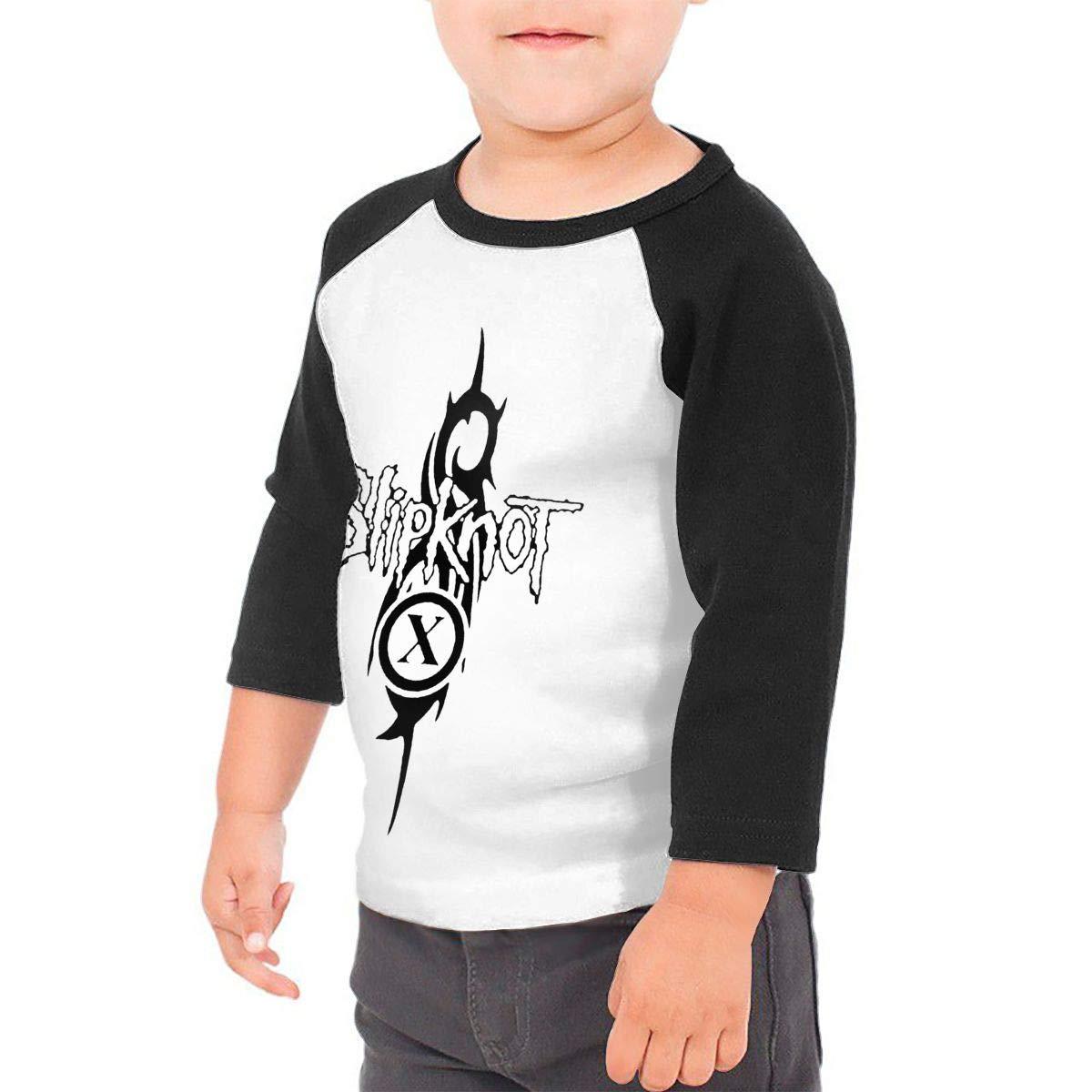 Black6Red Slipknot Childrens 3//4 Sleeve T-Shirt