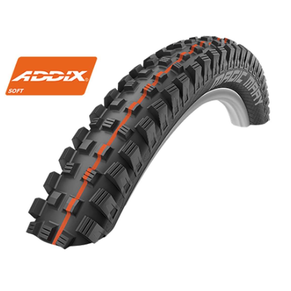 Schwalbe Magic Mary HS 447 Addix Evolution蛇皮Tubeless Easyマウンテン自転車タイヤ – 折りたたみ B0777QMFCRブラック 27.5 x 2.80 Addix Soft