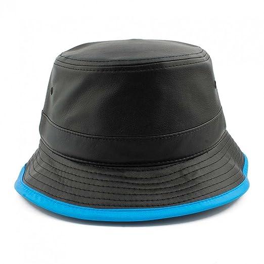 5e31481b031 Image Unavailable. Image not available for. Color  Loyal Cloth Faux Leather  Black Bucket Cap Aqua
