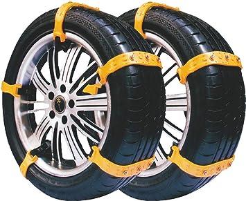 Cadenas para nieve para automóviles, 10 cadenas para nieve universales, neumáticos antideslizantes y ajustables para camionetas ...