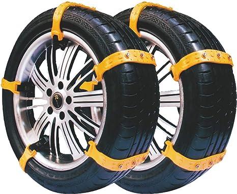 Cadenas para nieve para automóviles, 10 cadenas para nieve universales, neumáticos antideslizantes y ajustables