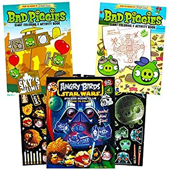 Angry Birds Coloring Book Super Set With 60 Stickers 3 Jumbo Books