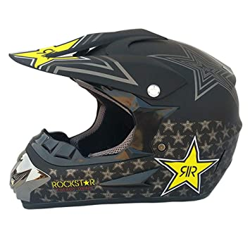 Wenyan Adulto Motocross Casco MX Moto Casco ATV Scooter ATV Casco Gafas Máscaras Guantes Máscara (