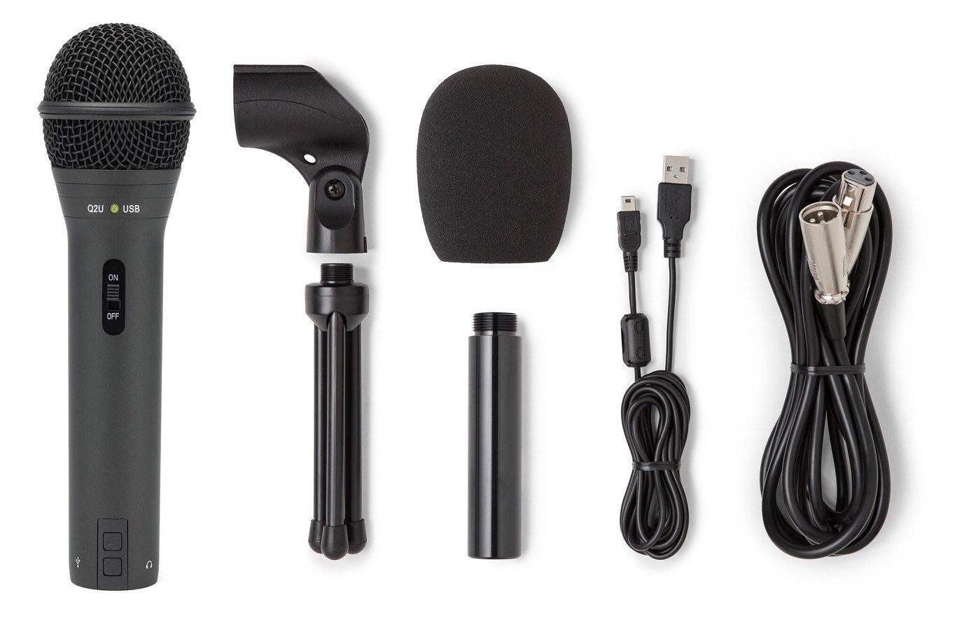 Best Dynamic Microphones For Podcasting : samson q2u handheld dynamic usb microphone recording and podcasting pack techadict ~ Vivirlamusica.com Haus und Dekorationen