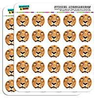 "Portrait of a Male Lion 1"" Planner Calendar Scrapbooking Crafting Stickers"