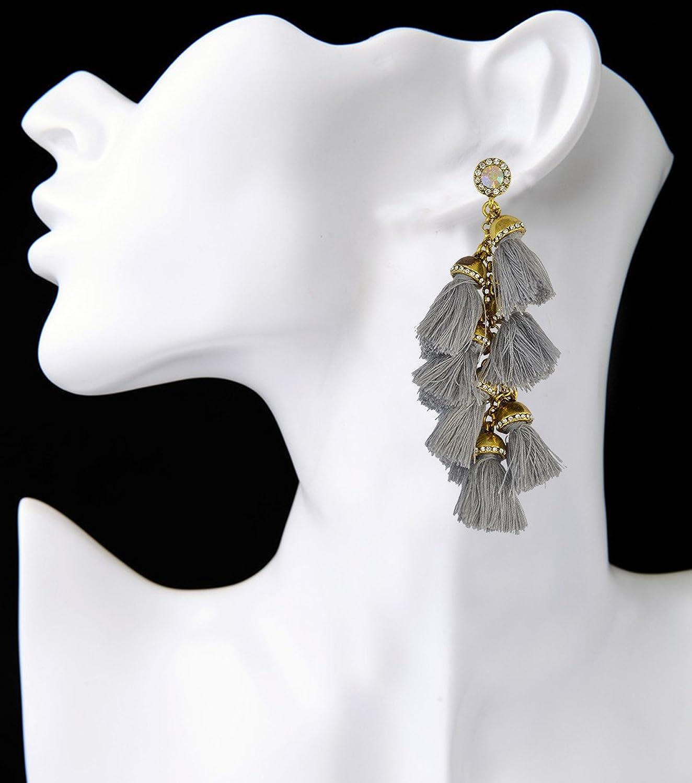 Idealway Handmade Exaggerated Gemstone Earrings Image 2