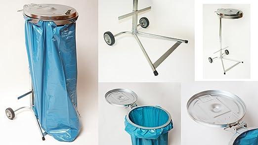 Práctico Metal Soporte para bolsas de basura - Soporte para ...