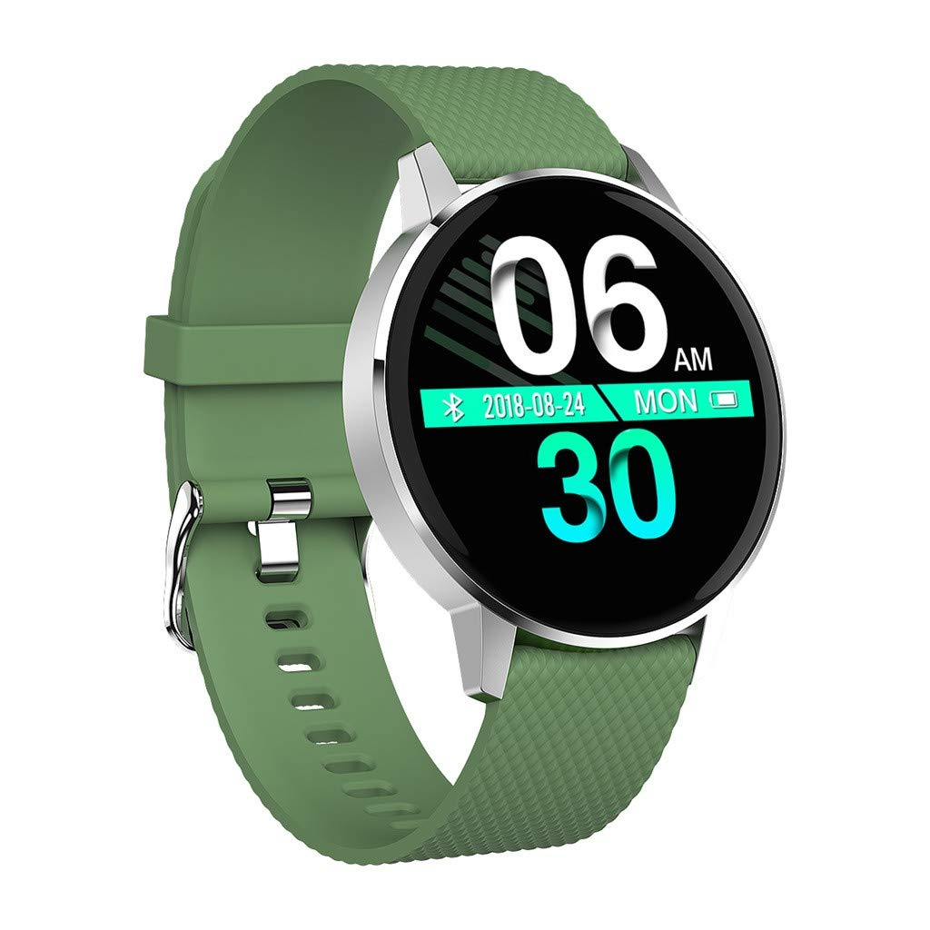 Smartwatch for Men Women - Smart Watch Waterproof Tempered Glass Activity Fitness Tracker Heart Rate Monito for Father Men Kids Youth Teens Boyfriend Lover's Birthday Gift by YEZIJIN watch
