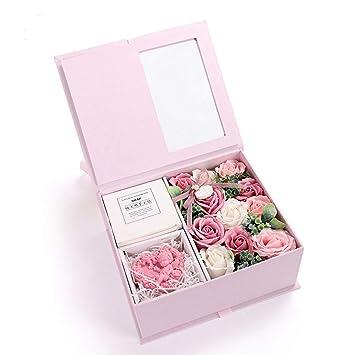 Amazon.com: AESTHING - Juego de jabón de manos con rosas y ...