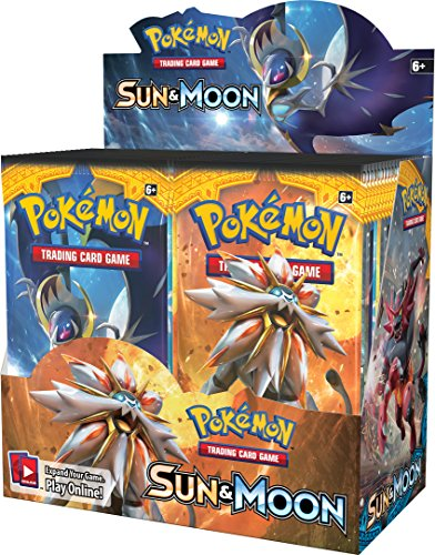Battle Card Game Booster Box (Pokemon Sun & Moon English Booster Box - 36 packs of 10 random)