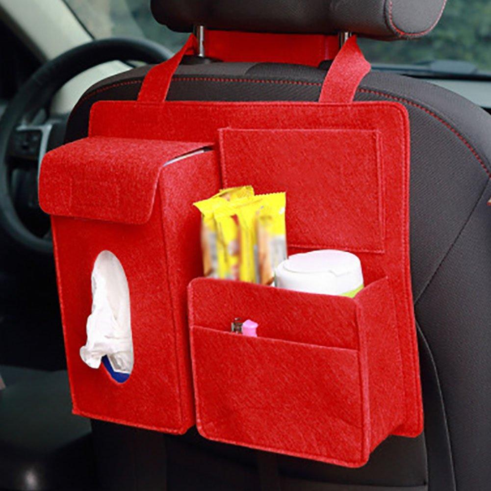 28 Gris LAAT Bolsa de Almacenamiento para Asiento de Coche Organizador para Coche Dise/ño para Asiento de Carro de Bote de Basura Size 32 8.5cm