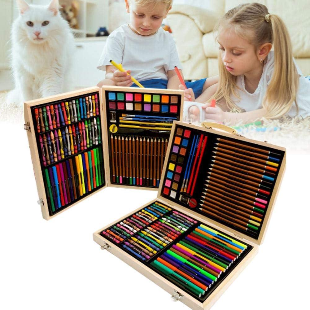 Riosupply Malette Dessin Enfant 118 Ensembles De Stylos Aquarelle De pour Enfants Livres De Coloriage denfants Et Dadultes Peinture Et Cr/éation Deffets Daquarelle Dessin