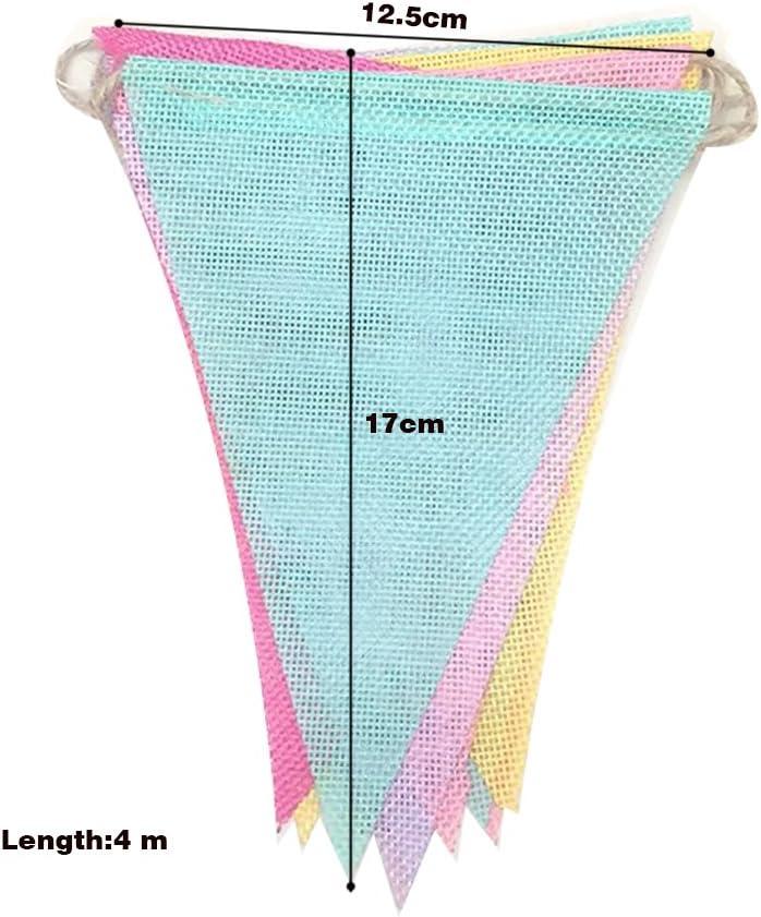 Bruant Banni/ère Costume pour Costume Pour Les F/êtes Danniversaire de Mariage de Jardin D/écoration de Classe Danniversaire 25M PTN Triangle Drapeau Guirlande D/écoration