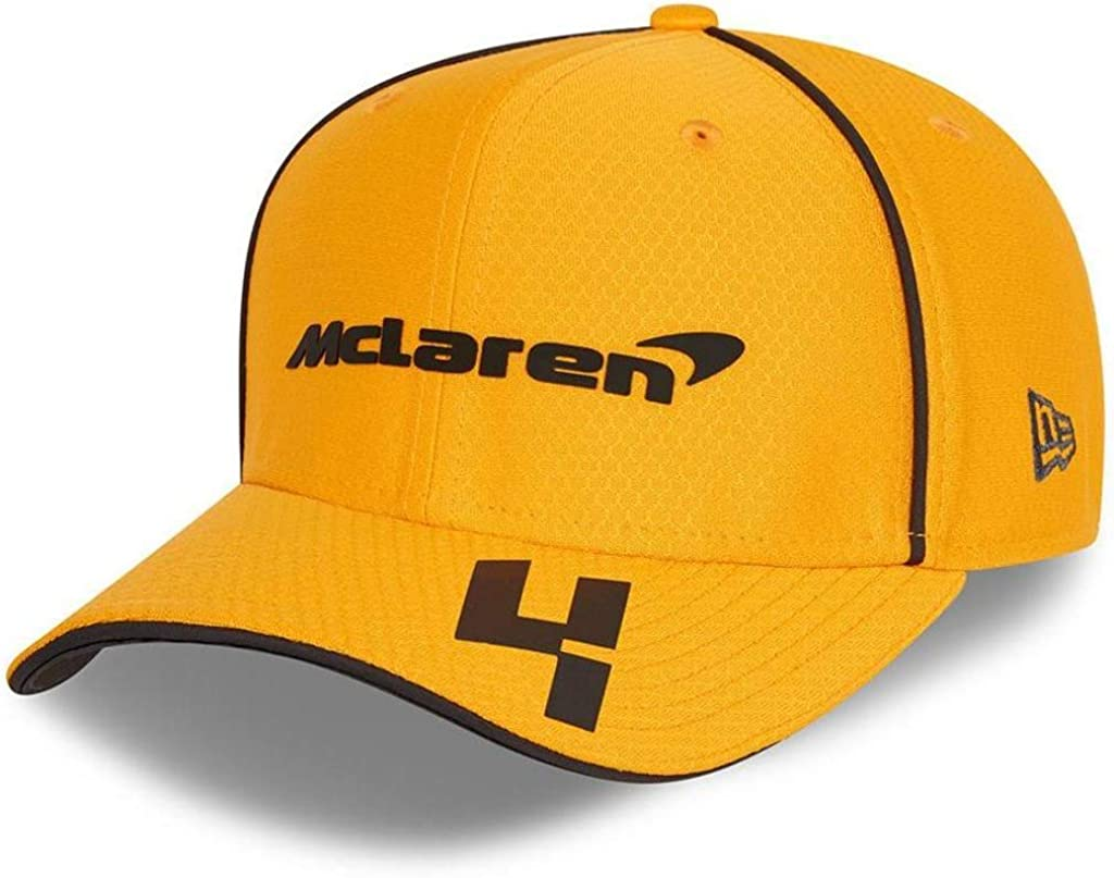 McLaren F1 Lando Norris Team 2021 New Era 9Fifty Baseball Hat, Papaya