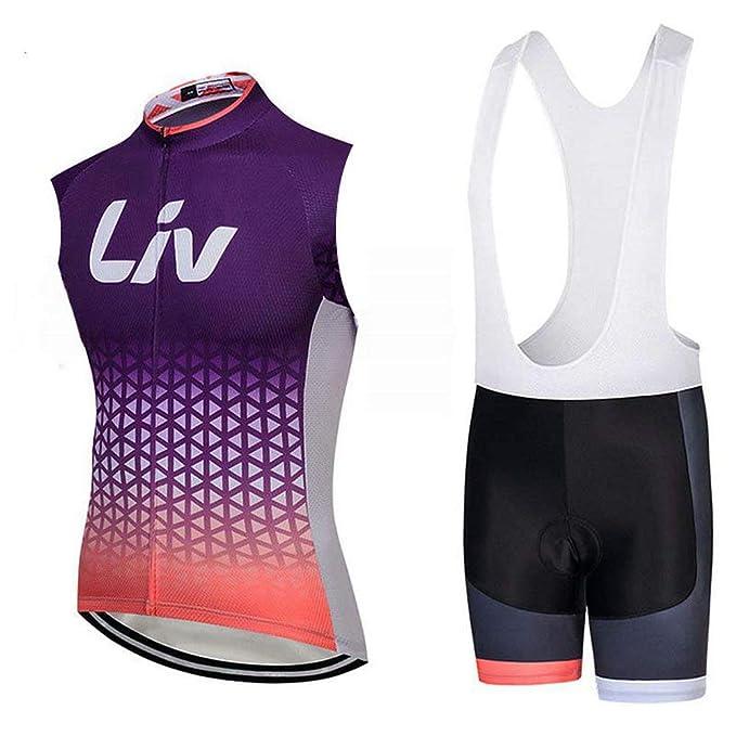Amazon.com: Camiseta sin mangas para ciclismo V282 con ...