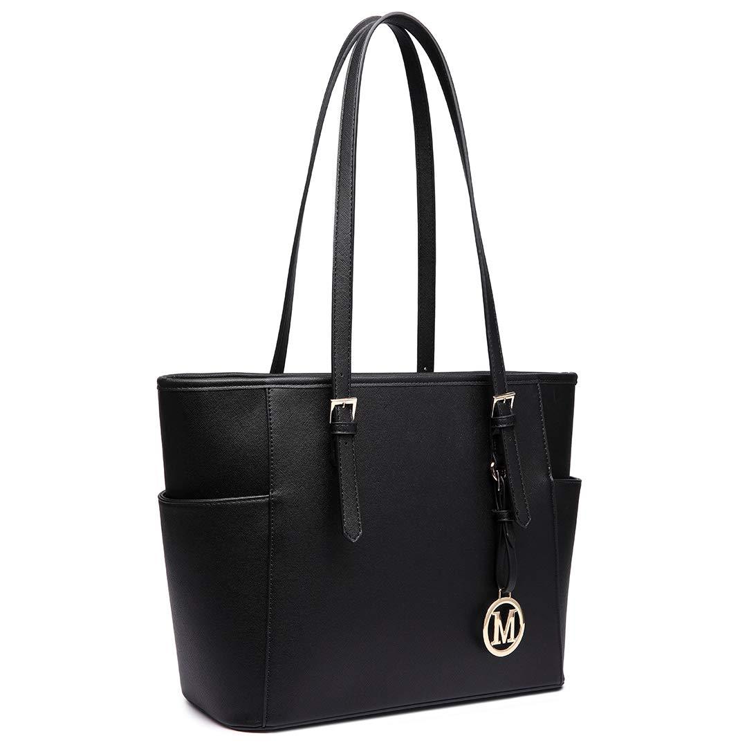 Large Tote Shoulder Handbag Inner Pockets Premium Faux Leather Brand New