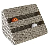 ANG Cat Scratching Pad Toy with Inside Bell-Balls - Small-Two Balls in Single Side