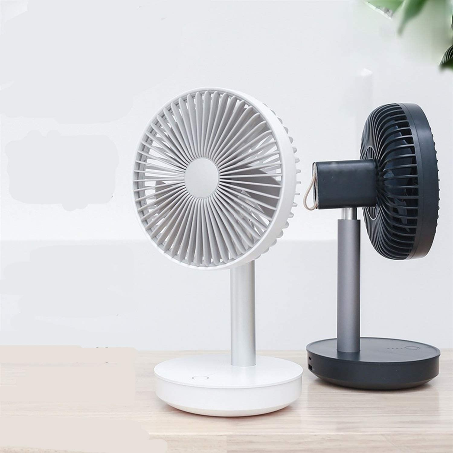 Color : Black Happy Roam Convenient Convenient Fashion Table Fan 120 Degrees Shaking Head Rotatable Apartment Desktop Electric Fan Ultra-Quiet Motor USB Charging Fashion