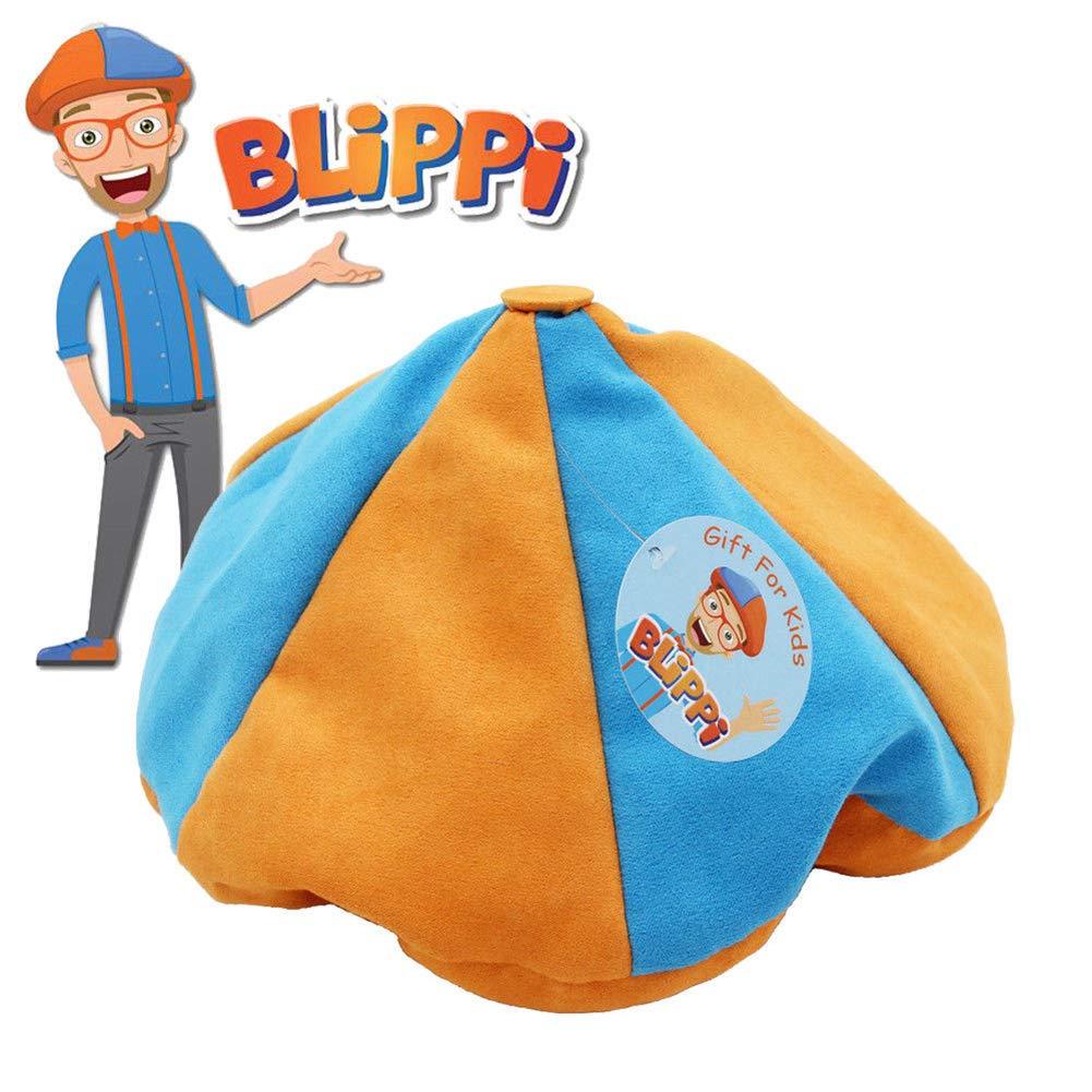 Ameshop Blippi Hat Unisex Children Kids Teenagers Blippi Cap Birthday Party Cosplay Prop Orange by Ameshop
