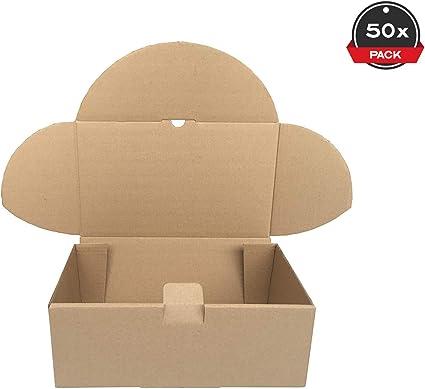 Cajeando | Pack de 50 Cajas de Cartón Automontables | Tamaño 35,5 x 22 x 13 cm | Para Envíos y Mudanzas | Color Marrón y Microcanal | Fabricadas en España: Amazon.es ...
