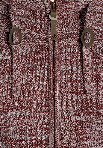 Homme Melange Veste 100 En Red Cardigan Wine Grosse Capuche Coton À Pancras Solid Pour 8985 Gilet Maille qvUwnZxFT
