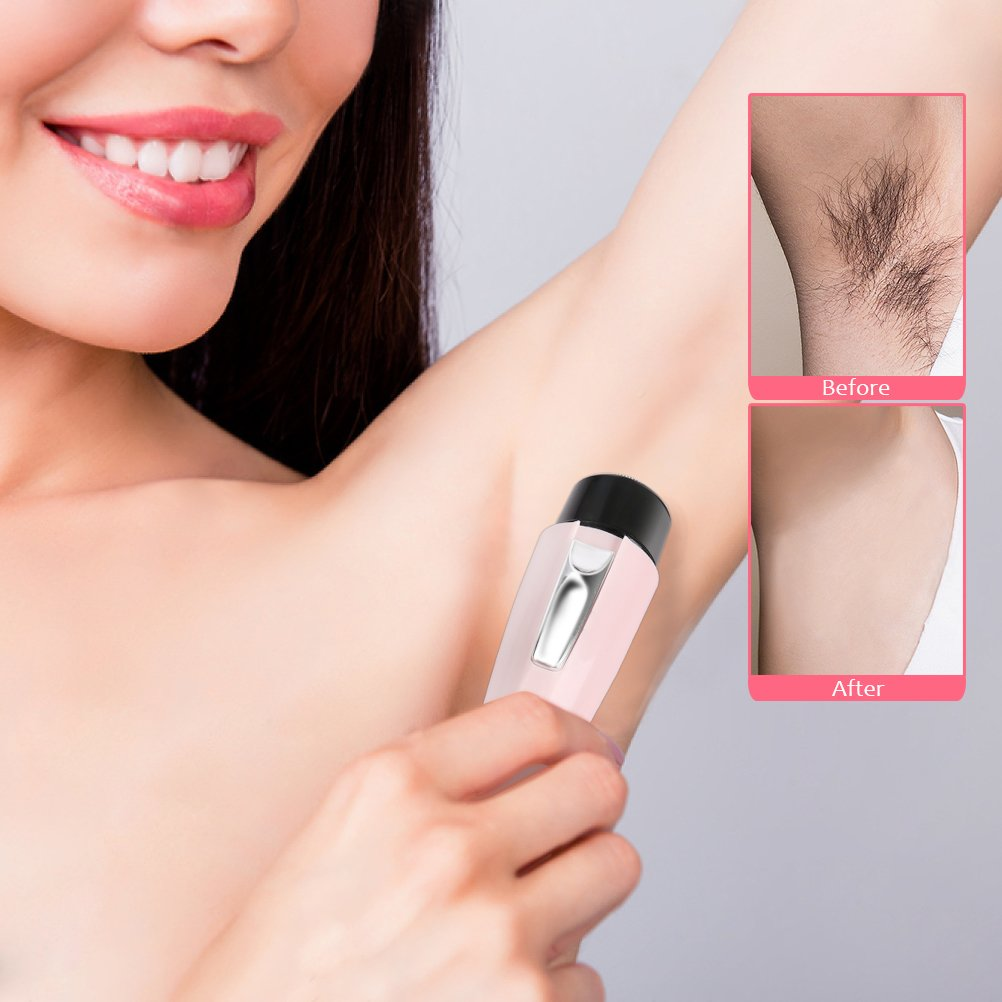 Women Shaver, Lady\'s Electric Rechargeable Painless Body Hair Trimmer Remover Epilator for Face Leg Hand Bikini Armpit