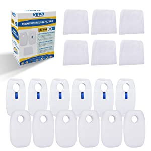 VEVA Premium Vacuum Filter Set with 6 Allergen, 6 Foam, 6 Felt Filters for Shark Rocket DuoClean Corded Ultralight Vacuum Model HV380, 381, 382, 383 and 384Q