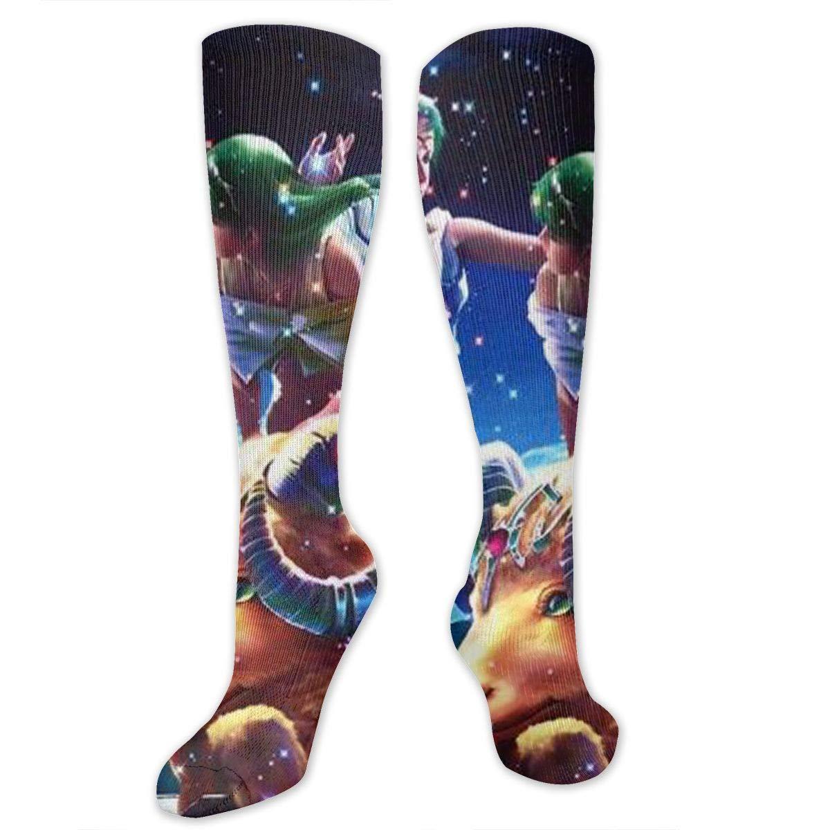JrexsG Aries Unisex Outdoor Travel Exercise Sports Long Tube Socks Sport Over-The-Calf Long Team Socks