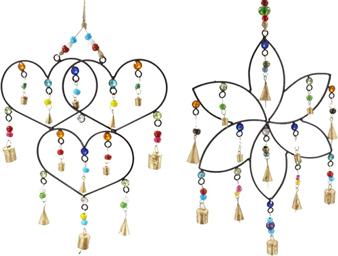 Demiawaking Gold Tube Garden Wind Chimes Good Luck Alloy Outdoor Wind Chime Bells with 18 Tubes Windchimes Charm Hanging Decor
