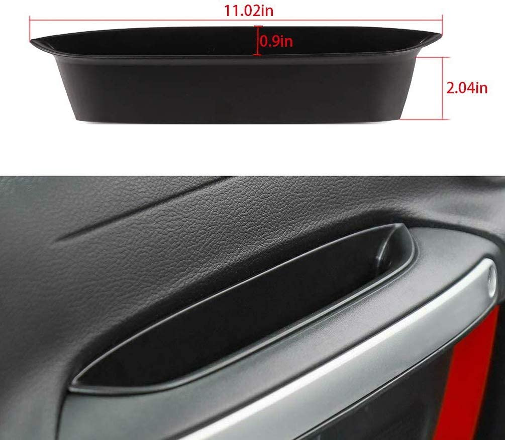 Black Grab Tray Handle Storage Box for 2011-2018 Jeep Wrangler JK JKU 2-door//4-door Interior Organizer Accessories YIFAT 1PC Jeep JK Passenger Organizer
