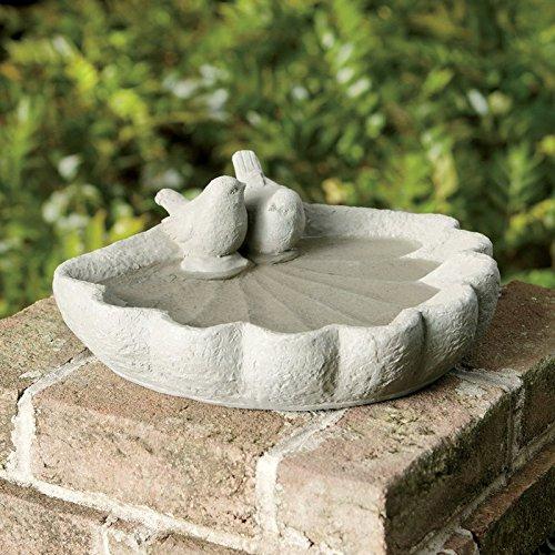 Sparrow Birdbath Garden Decor Outdoor Clay Feeder New by HealthyLifeStyle52