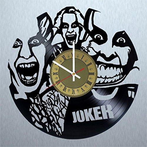 Joker supervillain vinyl wall clock DC Comics great gift for men, women, kids, girls and boys, birthday, christmas beautiful home decor - unique design that made out of vinyl LP -