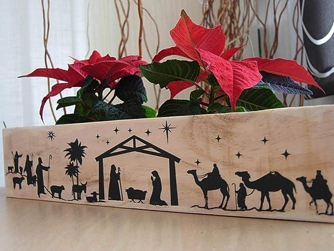 Tabla De Navidad Decoración Navideña Original Adorno Madera