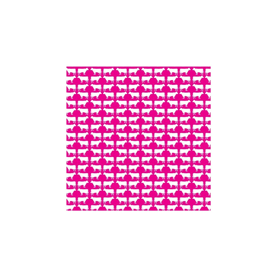 COW PATTERN PINK & WHITE Vinyl Decal Sheets 12x12 x3 Great for Cricut or Silhouette Crafting