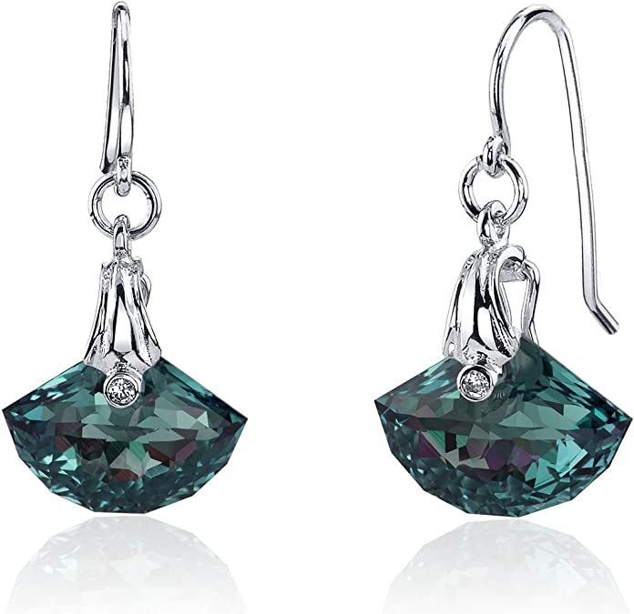 Natural Gemstone Jewelry Gift For Girlfriend Blue Topaz Girls/' Earrings 925 Silver Modern Handcrafted Bijoux Nouveau Fashion Collection