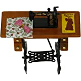 Lowpricenice Vintage Miniature Dollhouse Sewing Machine With Cloth New In Box 1/12 Scale